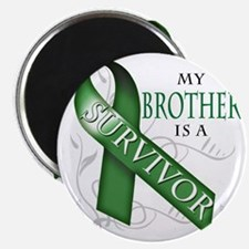 My Brother is a Survivor (green) Magnet