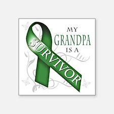 """My Grandpa is a Survivor (g Square Sticker 3"""" x 3"""""""
