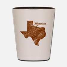 Sherman, Texas (Search Any City!) Shot Glass