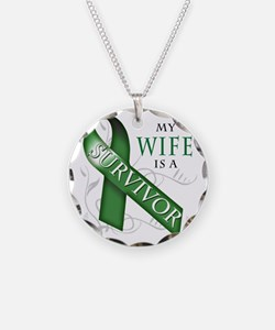 My Wife is a Survivor (green Necklace