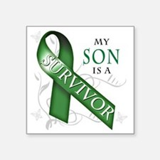 "My Son is a Survivor (green Square Sticker 3"" x 3"""