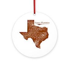 Sienna Plantation, Texas. Vintage Round Ornament