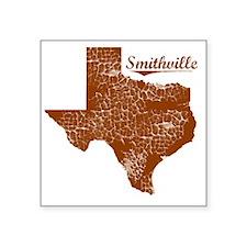"Smithville, Texas (Search A Square Sticker 3"" x 3"""