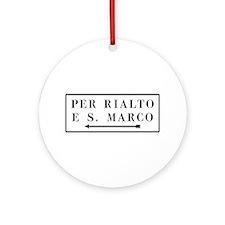 Per Rialto e S. Marco, Venice (IT) Ornament (Round