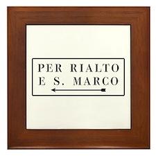 Per Rialto e S. Marco, Venice (IT) Framed Tile