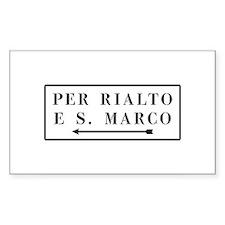 Per Rialto e S. Marco, Venice (IT) Decal