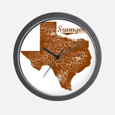 Sunnyvale, Texas (Search Any City!) Wall Clock