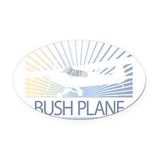 Aircraft Bush Plane Oval Car Magnet