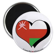 """I Love Oman 2.25"""" Magnet (100 pack)"""