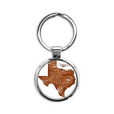 Tierra Grande, Texas. Vintage Round Keychain