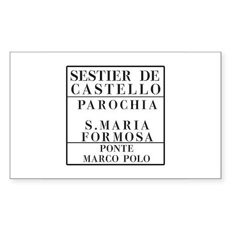 Castello-Formosa-Marco Polo, Venice (IT) Sticker (