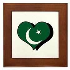 I Love Pakistan Framed Tile