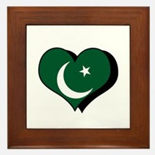 I Love Pakistan Framed Tile