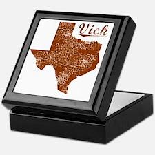 Vick, Texas (Search Any City!) Keepsake Box