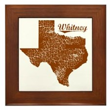 Whitney, Texas (Search Any City!) Framed Tile