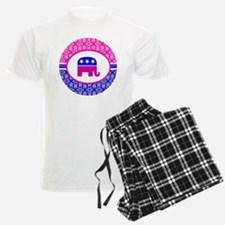 Pink and Blue Damask Republic Pajamas