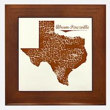Abram-Perezville, Texas. Vintage Framed Tile