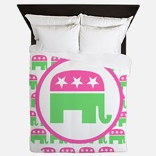 Pink and Green Republican Queen Duvet