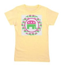 Pink and Green Republican Girl's Tee