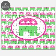 Pink and Green Preppy Republican Puzzle