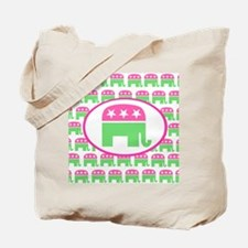 Pink and Green Preppy Republican Tote Bag