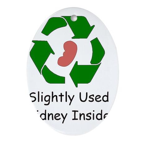Slighty Used Kidney Inside Oval Ornament