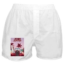 Ft. Lauderdale Poster Boxer Shorts