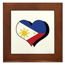 I Love The Philippines Framed Tile