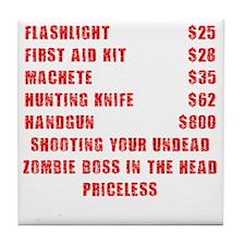 Zombie Boss Priceless Tile Coaster