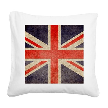 Pillow Faded UK Square Canvas Pillow