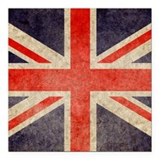 """Pillow Faded UK Square Car Magnet 3"""" x 3"""""""