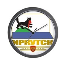 Irkutsk Flag Wall Clock