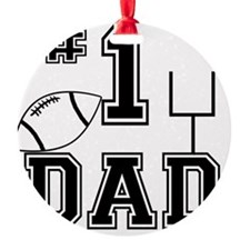 Number One Football Dad Light Ornament