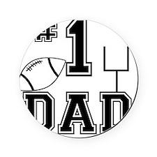 Number One Football Dad Light Cork Coaster
