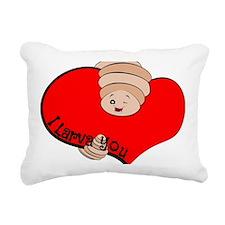 I Larva You Rectangular Canvas Pillow