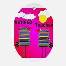 ff ret teacher 2 Oval Ornament