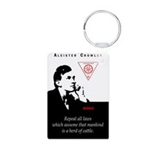 aleister-crowley-repeal-la Keychains