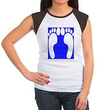 ff foot blue Women's Cap Sleeve T-Shirt