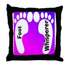 foot whisperer 2 Throw Pillow
