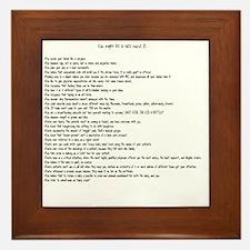 You might be a NICU nurse if.... Framed Tile