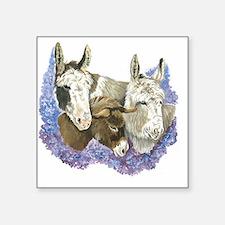 """Donkeys Square Sticker 3"""" x 3"""""""