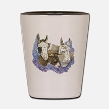 Donkeys Shot Glass