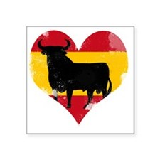 "The Spanish Bull, El Toro d Square Sticker 3"" x 3"""