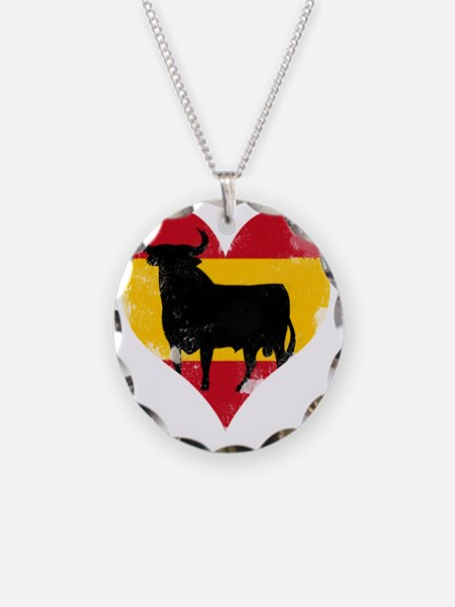The Spanish Bull, El Toro de Necklace Circle Charm