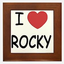 I heart Rocky Framed Tile