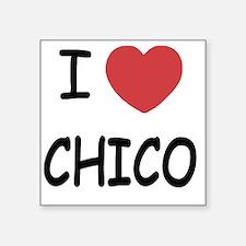 """I heart Chico Square Sticker 3"""" x 3"""""""