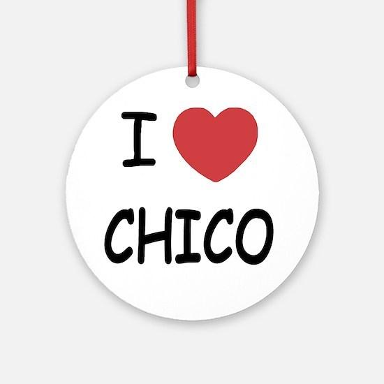 I heart Chico Round Ornament