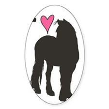 I Love Friesians Decal