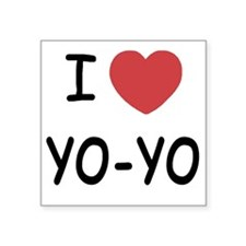 "I heart Yo-Yo Square Sticker 3"" x 3"""
