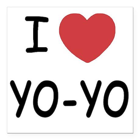 """I heart Yo-Yo Square Car Magnet 3"""" x 3"""""""